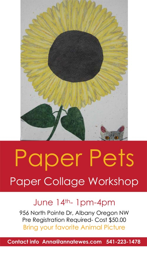 Paper Pets Collage Workshop