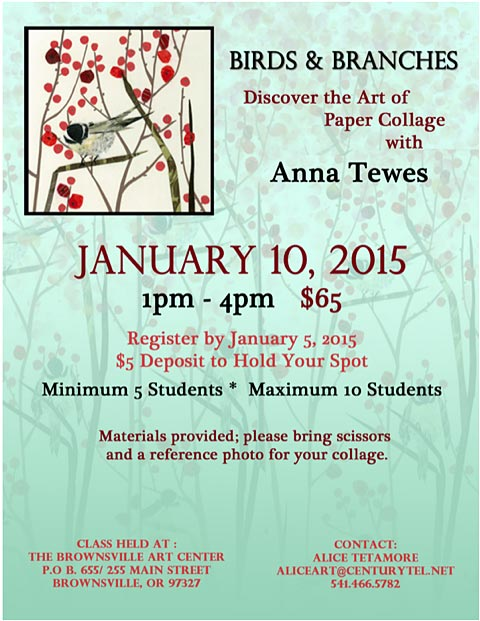 Anna Tewes Collage Workshop