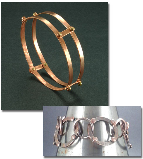 Bangle and Bracelet by Linda Herd