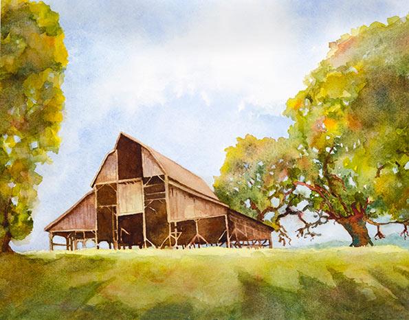 """""""Bald Hill Barn"""" by Marjorie Kinch"""