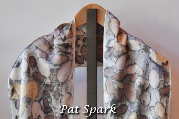 Pat Spark - Scarf with Prunus and Smoke Bush